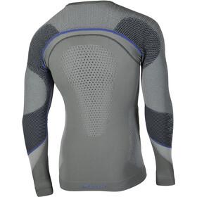 UYN Ambityon UW LS Shirt Herre medium grey/blue/royal blue